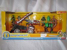 NEW Fisher Price Imaginext Serpent Battle Wagon Lizard Snake man archer horse