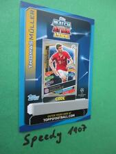 Topps Champions League 2016 17 limited Edition Müller GOLD Code Card 2017