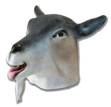 Goat Rubber Mask Fancy Dress Costume Outfit Prop Goats Head
