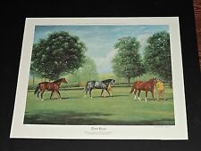 "Richard Stone Reeves - ""Three Kings"" - Collectible Race Horse Print"
