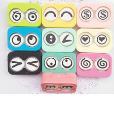 Eyes Shape Contact Lens Case Box Container Holder Interesting Expressions