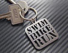SWIM BIKE RUN Triathlon Triathlete Sport Keyring Keychain Key Bespoke Steel Gift