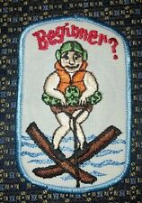 "BEGINNER? (SKIING) Patch 2.5""X4"""