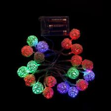 A 20 LED Color Rattan Ball String Fairy Lights For Romantic Xmas Wedding Party