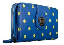 New LYDC Womens Ladies Designer Polka Dot Blue Purse Clutch Wallet P101