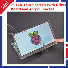 """7"""" inch LCD Touch Screen Display Kit for Raspberry Pi with Acrylic Bracket"""