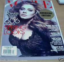 Vogue magazine USA MAR 2012 American Edition: Adele, Kristen Wiig, After Picasso
