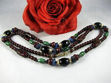 Gorgeous Glass  Faux Gemstone Beaded Necklace CAT RESCUE