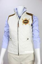 NWT POLO RALPH LAUREN Women Quilted Vest with Special Patch & Calf Leather Trim