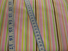 Pastel Striped Fabric from Riley Blake's 'Sweet Baby Girl' 100% cotton per FQ