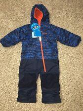 Columbia Snowsuit 1pc Boys Little Dude Suit Blue Multi-Color Size 4T NWT $120