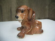 Planter Hound Dog Basset Blood Hound Brown Napco? Great Expression A4C65/m