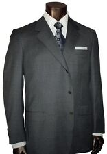 $4500 NEW BRIONI GRAY MEDIUM WEIGHT FLANNEL 3 BUTTON SUIT 48L 48 L