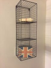 Metal Wire Locker Room Wall Shelf Storage Unit Rack Cage Industrial Retro Style