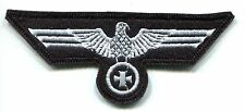 WWII German Heer Army Breast Eagle Panzer Iron Cross White on Black Wool