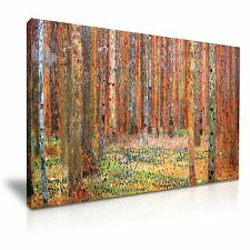 Gustav Klimt Tannenwald I 1901 Forest Canvas Wall Art Picture Print 76x50cm