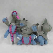 "New pokemon plush animal Deino Zweilous Hydreigon 5 1/2"" doll SET OF 3 KEYCHAIN"