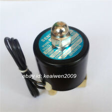 """Pneumatic Electric Solenoid Valve NC DC12V 1/4"""" 2W-025-08 f Water Air Gas Diesel"""