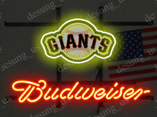 """New Budweiser San Francisco Giants Beer Neon Sign 19""""x15"""" Ship From USA"""