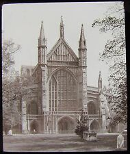Glass Magic Lantern Slide WINCHESTER CATHEDRAL - EXTERIOR C1890 PHOTO ENGLAND