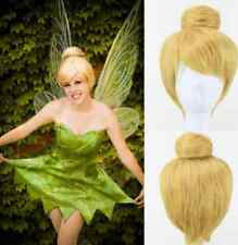 HOT~Disney Tinker Bell Short Heat Resistant Blonde Style Cosplay Wigs