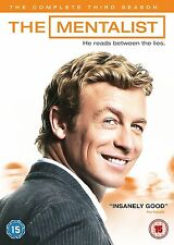 The Mentalist - Season 3 DVD 2011 Simon Baker, Robin Tunney Brand New DVD