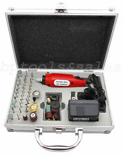 60 Pc Rotary Tool Kit Hobby Craft Cut Drill Grind Glass Jewelry Buffing Sanding