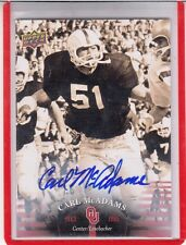 2011 UD UPPER DECK UNIVERSITY OF OKLAHOMA OU CARL MCADAMS AUTOGRAPH AUTO*