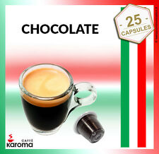 25 Capsules Compatible With Most Machines NESPRESSO PODS. Creamy Chocolate!