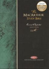 The John MacArthur Study Bible,NKJV,Genuine Leather,Burgundy,Revised,Updated,New