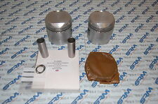 BSA A65 pistons pair std 68.428 with hepworth rings gudgeon pins & circlips