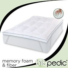 "Full Size 3"" Inch Deluxe Memory Foam Mattress Protector Bedding Pad Topper"