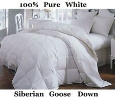 Luxury King Bed Size 13.5 Tog 100% Pure Siberian Goose Down Duvet / Quilt