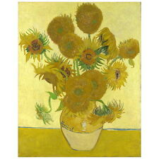 Van Gogh, Sunflowers Deco FRIDGE MAGNET, 1888 Vase w/ 15 Sunflowers Art Repro