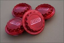 4x BBS RC RS RED Centerlock ! Hex Nuts Center Caps 15 16 17 18 Inch NEW !