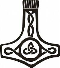 Autoaufkleber - Thorshammer Sticker / Celtic (Weiß)