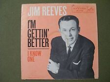 JIM REEVES I'M GETTING BETTER & I KNOW ONE SLEEVE ONLY 45 SLEEVE
