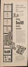 1956 Dejur Home Movie Camera Film Baby Photo Photography Equipment Promo AD