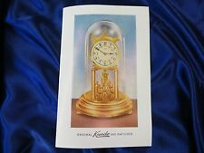 Owners Manuals / Instructions For Kundo 400 Day / Anniversary Clock