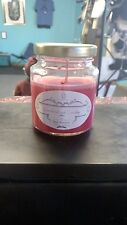 """Hand poured Apple Cinnamon scented 4 oz """"Jelly Jar"""" 100 % Soy wax Candle"""