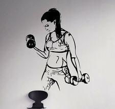 Ladies Gym Vinyl Decal Fitness Wall Sticker Sport Removable Art Decor 5(nse)