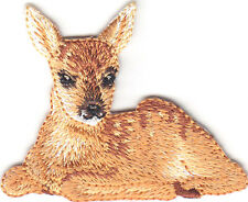 DEER -FAWN - FOREST ANIMAL-Iron On Embroidered Applique Patch/Cute Critter