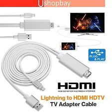 Lightning 8 Pin to HDTV HDMI Digital AV Adapter Output 2M Cable for iPhone iPad