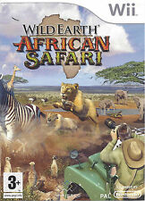 WILD EARTH AFRICAN SAFARI for Nintendo Wii - with box & manual - PAL