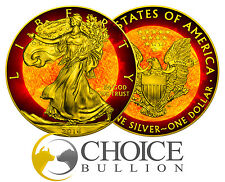 2016 US Walking Liberty Solar Flare 1 Oz $1 .999 Silver Coin + 24K Gold PRE-SALE