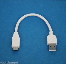 """4"""" 10cm SHORT USB 2.0 Type A to C Charger Cable WHITE for Samsung Galaxy Tab S3"""
