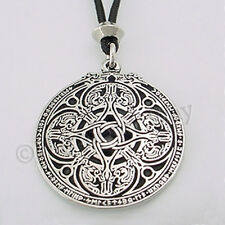 RUNE RUNIC DRAGON SHIELD Pendant Celtic Knotwork Necklace Protective amulet