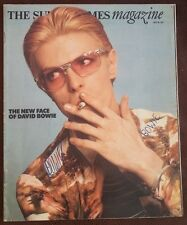 DAVID BOWIE Sunday Times very rare 1 day only magazine 1975