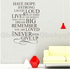 Have hope Wall Quotes decal Removable stickers decor Vinyl DIY home art gift