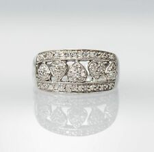 10K White Gold & Diamond Heart Ring